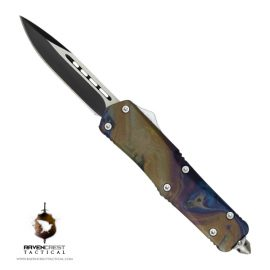 Hydroprint Oil Slick Titan Bravo OTF Knife