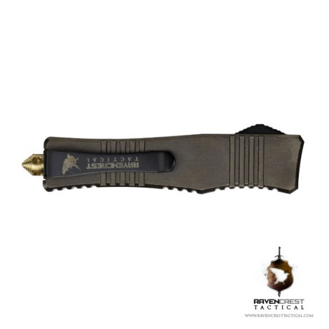 Micro Stinger Bronze Black OTF Knife