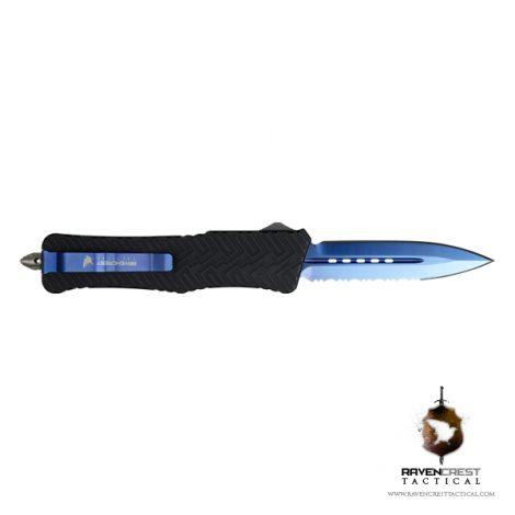 Guardian Blue TiN Spear Point Half & Half OTF Knife