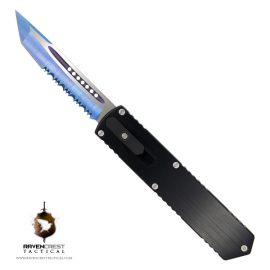 Kuro OTF Knife Blue Titanium Nitride Blade