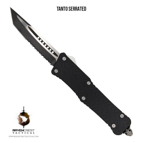Black Guardian Mini Tanto Serrated
