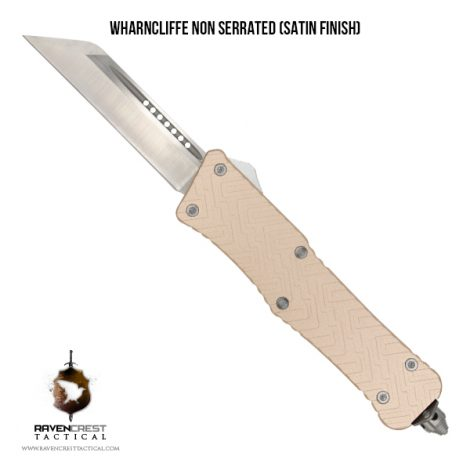 Mini Guardian OTF Knife - Wharncliffe Non Serrated Satin