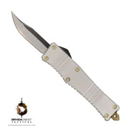 Micro Stinger OTF Knife Silver - RavenCrest Tactical