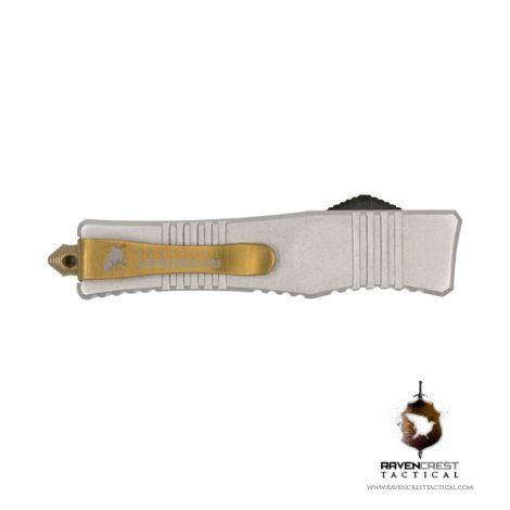 Micro Stinger OTF Knife Silver - RavenCrest Tactical