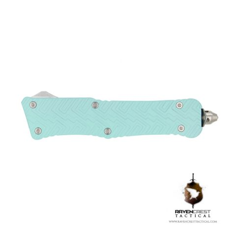 Cerakote Robins Egg Blue Mini Guardian OTF Knife