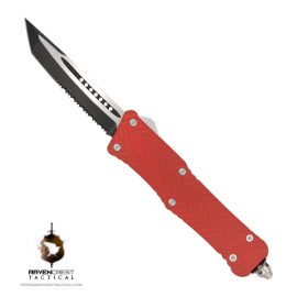 Cerakote USMC Red Mini Guardian OTF Knife
