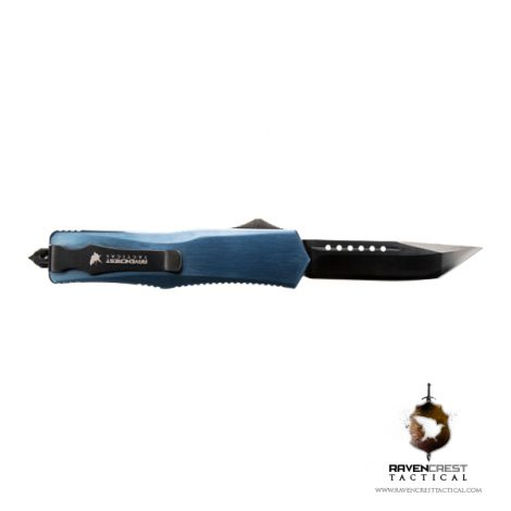 Dark Blue Titanium & Black Titan Alpha OTF Knife
