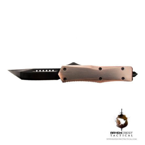Copper & Black Titan Alpha OTF Knife