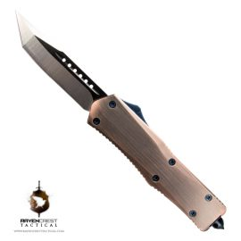 Copper & Blue Titan Alpha OTF Knife