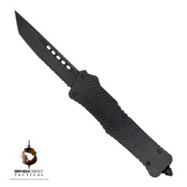 Guardian Black TiN Tanto Serrated OTF Knife
