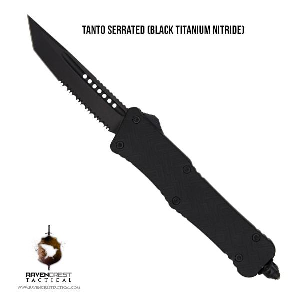 Mini Zhanshi Tanto Serrated Black TiN Blade