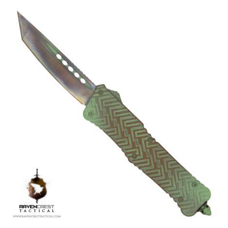 Copper Patina Zhanshi (Warrior) OTF Knife - RavenCrest Tactical