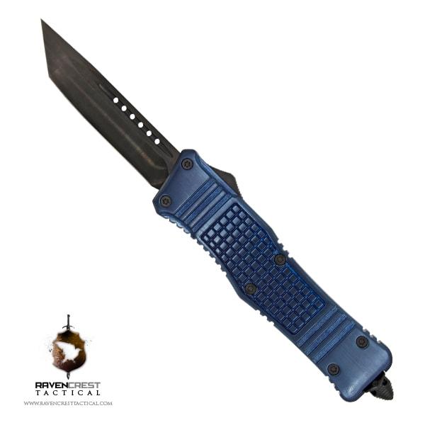RCT-2 Raven Tactical OTF Knife (Blue)