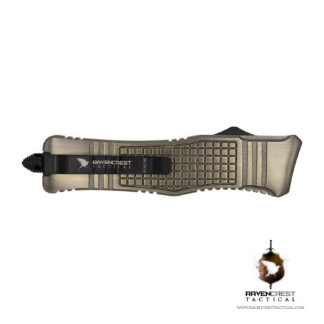 RCT-2 Raven Tactical OTF Knife (Brass)