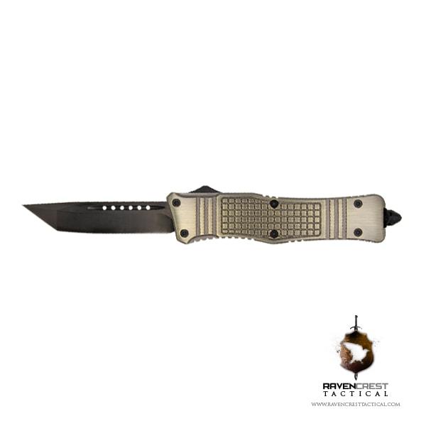 RCT-2 Raven Tactical OTF Knife (Brass)