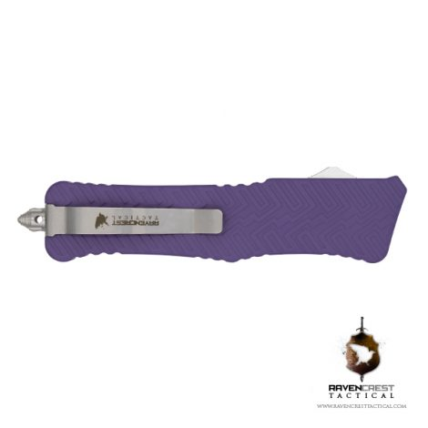 Cerakote Zhanshi (Warrior) OTF Knife (Bright Purple)