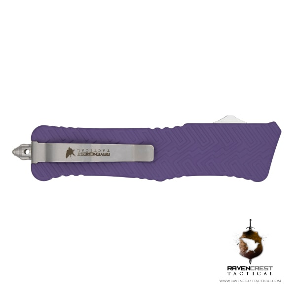 Cerakote Zhanshi (Warrior) OTF Knife (Bright Purple)