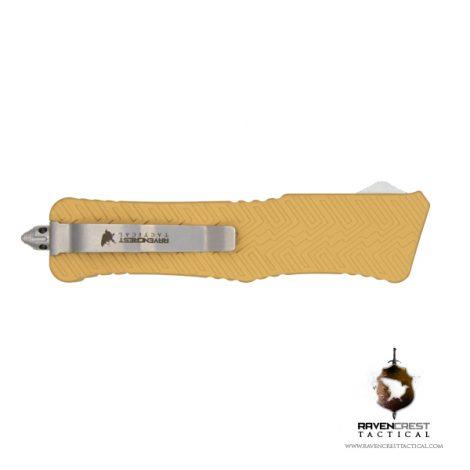 Cerakote Zhanshi (Warrior) OTF Knife (Gold)