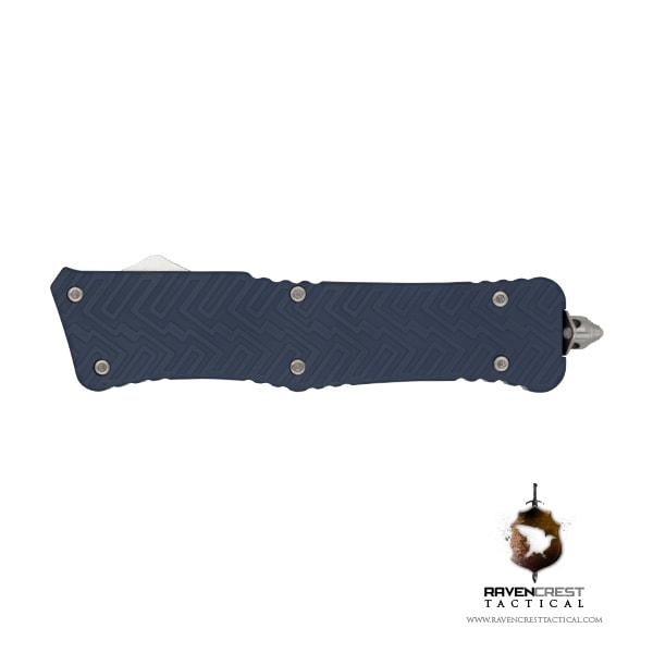 Cerakote Zhanshi (Warrior) OTF Knife (Keltec Blue)