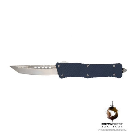 Cerakote Zhanshi (Warrior) OTF Knife (Keltec Blue)