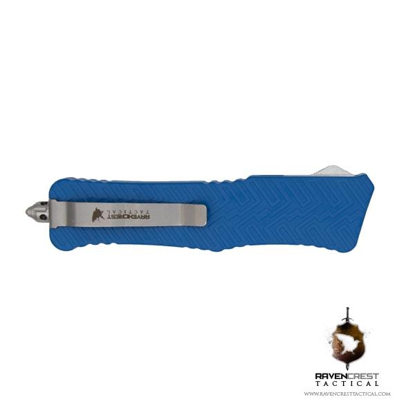 Cerakote Zhanshi (Warrior) OTF Knife (NRA Blue)