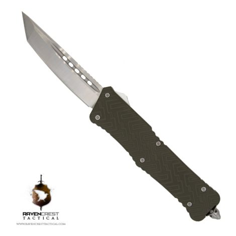 Cerakote Zhanshi (Warrior) OTF Knife (OD Green)