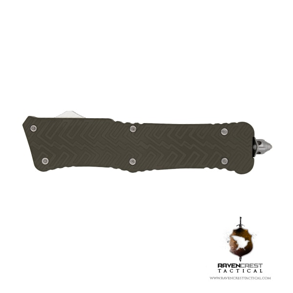 Cerakote Zhanshi (Warrior) OTF Knife (OD Green)