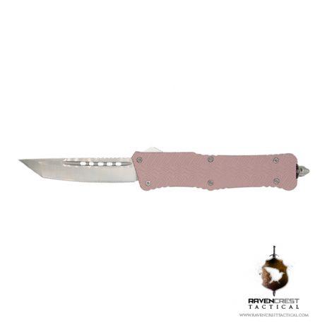 Cerakote Zhanshi (Warrior) OTF Knife (Pink Champagne)