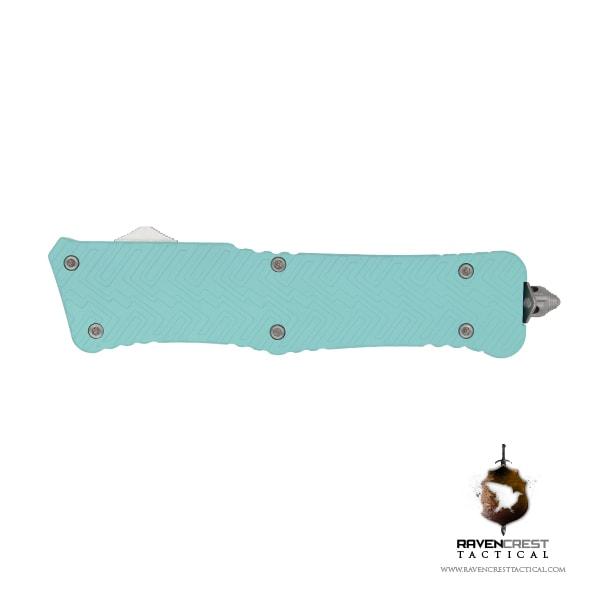 Cerakote Zhanshi (Warrior) OTF Knife (Robins Egg Blue)