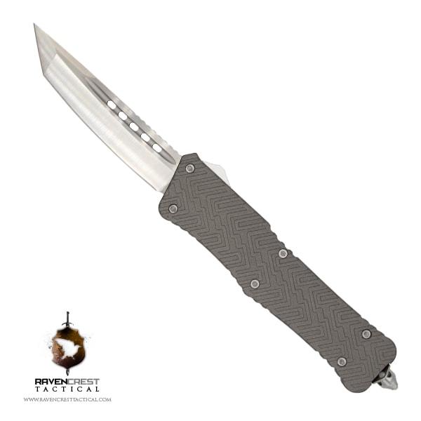 Cerakote Zhanshi (Warrior) OTF Knife (Tungsten)