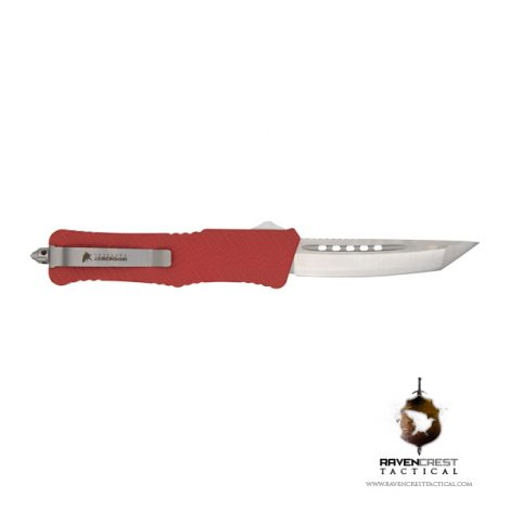 Cerakote Zhanshi (Warrior) OTF Knife (USMC Red)