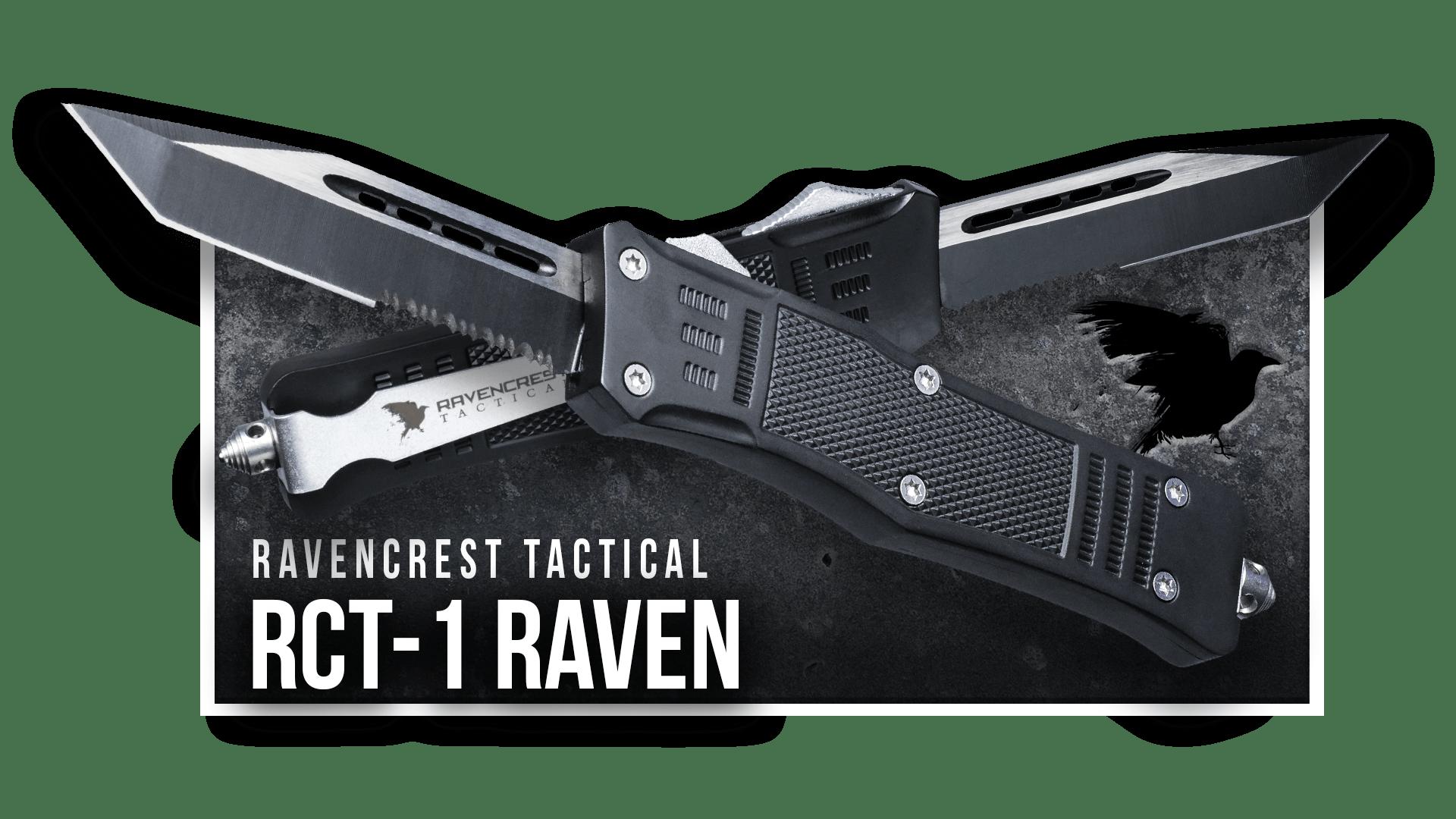 OTF Knife - RCT-1 Raven - RavenCrest Tactical