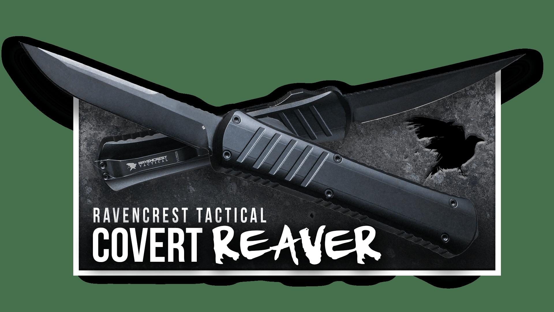 OTF Knife - Covert Reaver - RavenCrest Tactical
