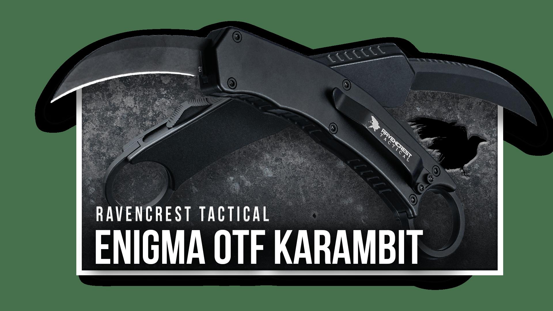 OTF Knife - Enigma - RavenCrest Tactical