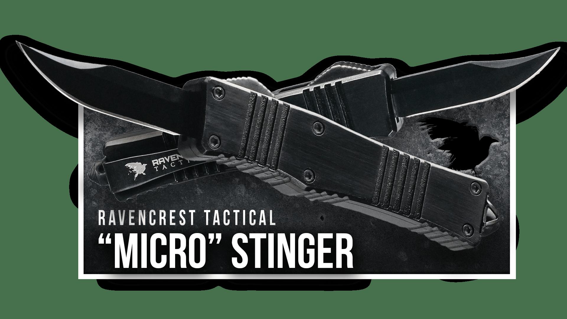 OTF Knife - Micro Stinger - RavenCrest Tactical