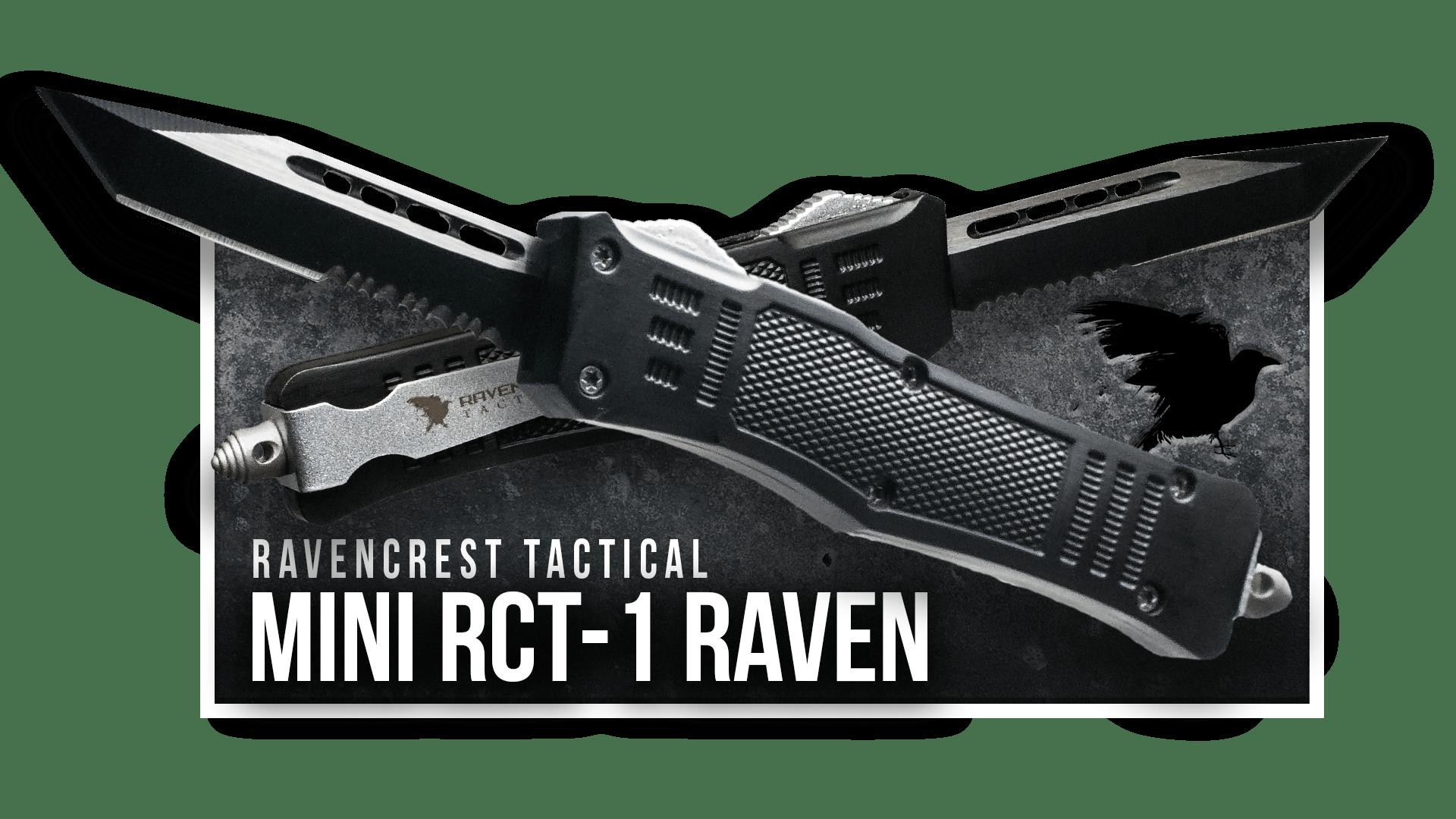 OTF Knife - Mini RCT-1 Raven - RavenCrest Tactical