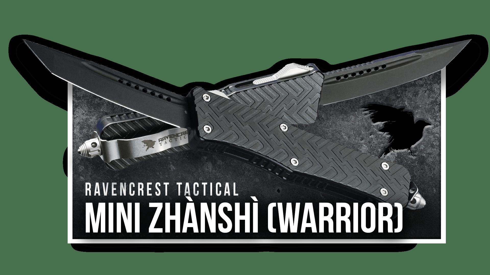 OTF Knife - Mini Zhanshi - RavenCrest Tactical