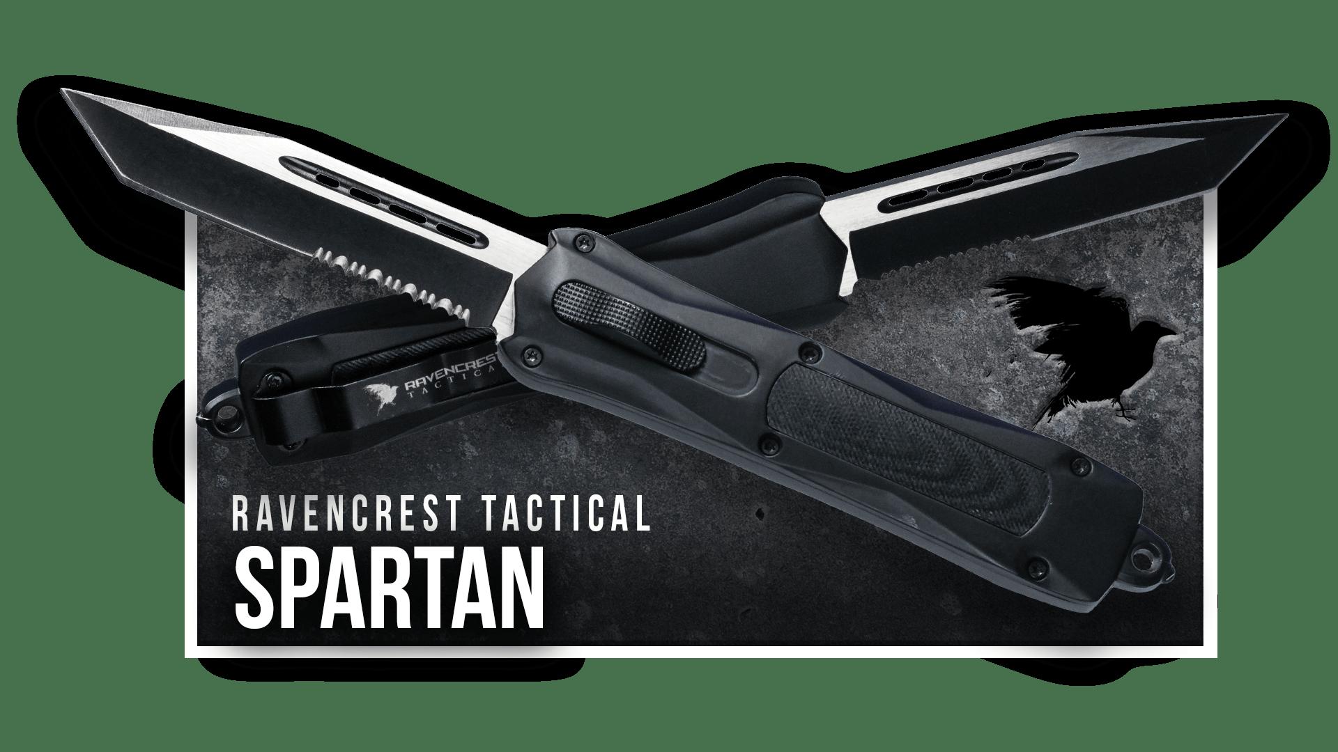 OTF Knife - Spartan - RavenCrest Tactical