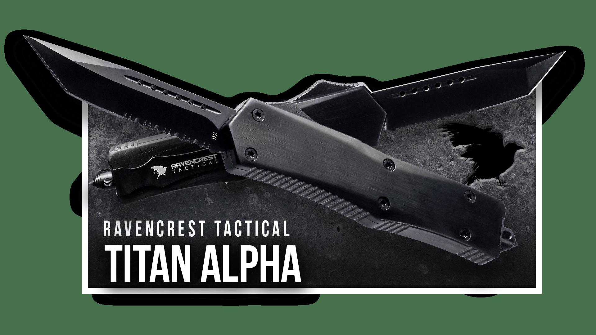 OTF Knife - Titan Alpha - RavenCrest Tactical