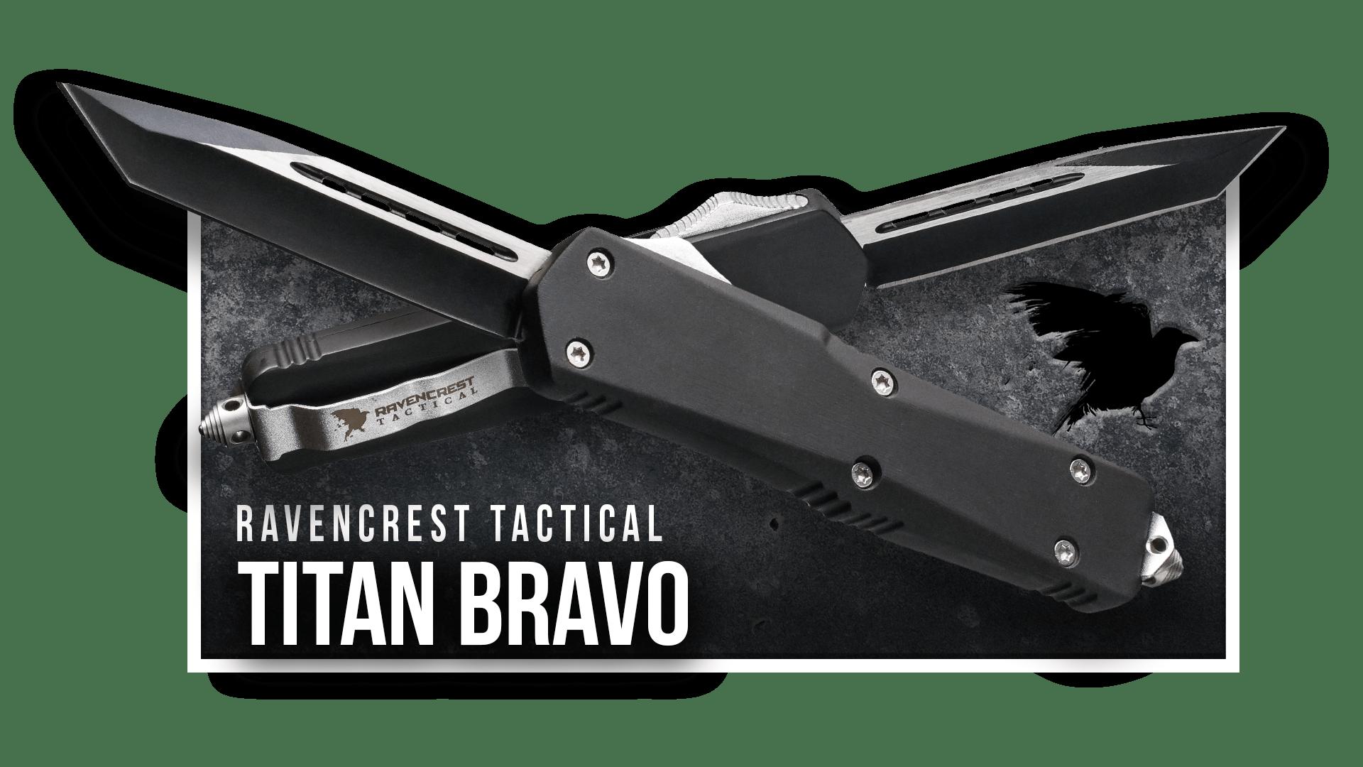 OTF Knife - Titan Bravo - RavenCrest Tactical